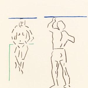 Pierre Buraglio, Lithograph N10-7, Mou-K-I