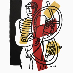 Fernand Leger Lithograph Le Cycliste by Maeght