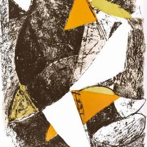 Marini lithograph cheval et cavalier, xx siecle 1963