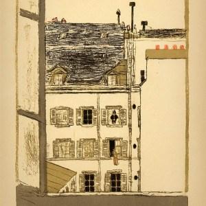Bonnard Lithograph 113, Maison dans la cour 1952