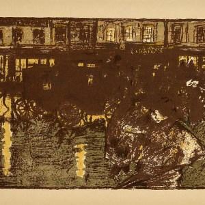 Bonnard Lithograph 127, Rue Le soir sous la pluie 1952