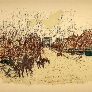 Bonnard Lithograph 129, L Arc de Triomphe 1952
