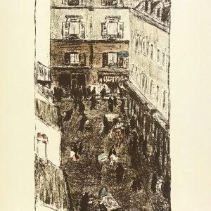 Bonnard Lithograph 131, Coin de rue vue d'en haut