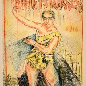 Bonnard Lithograph 143, Les Ballets Russes 1952