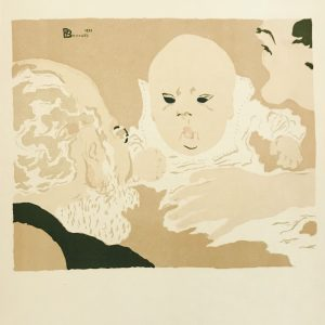 Bonnard Lithograph 19, Scene de famille 2, 1952