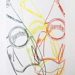 Andy Warhol Perrier 4, Pop art print 1999