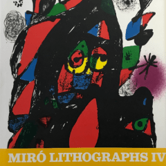 Book Miro Lithographs Vol 4 contains 6 lithographs