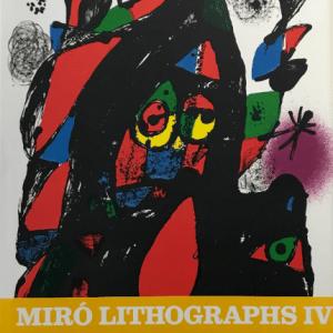 Book Miro Lithographs Vol 4 contains 6 lithographs