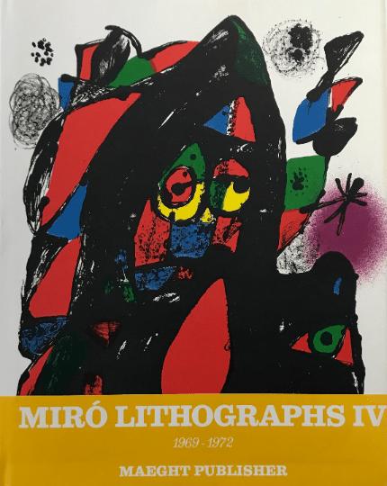 Book, Miro Lithographs Vol 4, 1981, contains 6 Original Lithographs