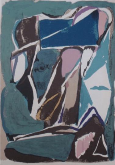 "Bram Van Velde Original Lithograph ""DM0243"""