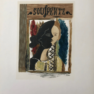 Braque Lithograph Souspente 1963 Mourlot