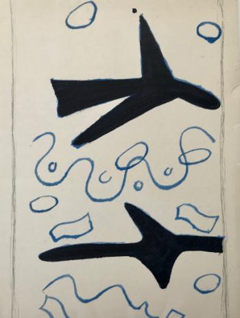 Braque Original Lithograph cover, Braque Catalog 1963, Mourlot
