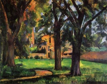 Cezanne, Chestnut trees and farm house, Limited Edition Giclee