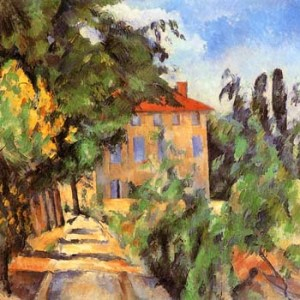 Cezanne, House with Red Roof, Limited Edition Giclee