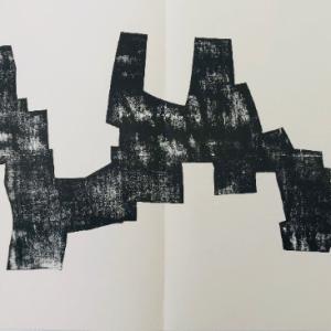"Eduardo Chillida Woodcut ""DM03174"" DLM printed 1968"