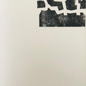 Chillida Lithograph DM04174, Derriere le miroir 1968