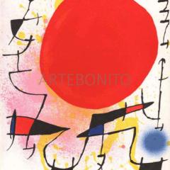 Joan Miro, Original Lithograph, V1-3