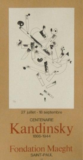 Wassily Kandinsky, Centenair, Poster Lithograph