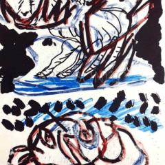 "Karel Appel Original Lithograph ""N7-2"" Noise 1988"