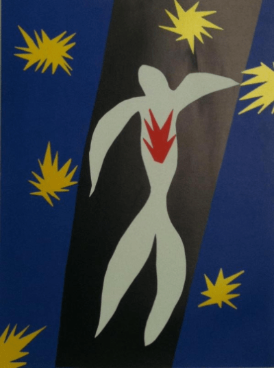 """Matisse Poster """"The fall of Icarus""""1984"""