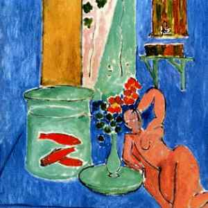 """Henri Matisse """"Gold fish and sculpture"""" L.E Numbered Giclee"""