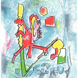 Matta Roberto, Original Lithograph, Tout se tient, XX Siecle 1975