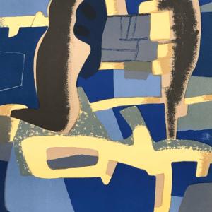 Maurice Esteve, Original Lithograph, Face a Face, XX Siecle 1963