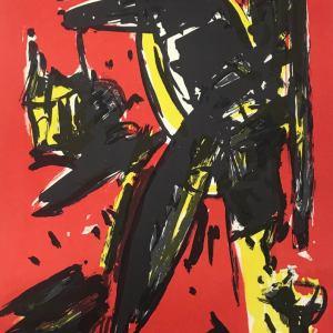 Max Kaminski, Original Lithograph N4-1, Noise 1988