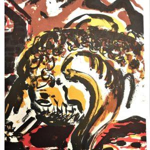 Peter Chevalier, Original Lithograph N6-1b, Noise 1988
