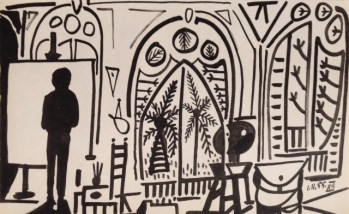 Picasso Sketchbook Lithograph No 12, dated 1/11/1955