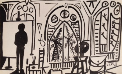 Pablo Picasso, Lithograph 12 dated 1/11/1955, Limited Edition Sketchbook 1960