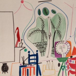 Picasso Sketchbook Lithograph No 3, dated 8/11/1955