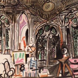 Picasso Sketchbook Lithograph Untitled 1955