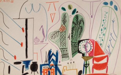 Pablo Picasso, Lithograph No.4 dated 8/11/1955, Limited Edition Sketchbook 1960