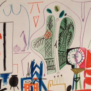 Picasso Sketchbook Lithograph No 4, dated 8/11/1955