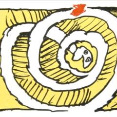 Pierre Alechinsky Lithograph Festival jaune 1972