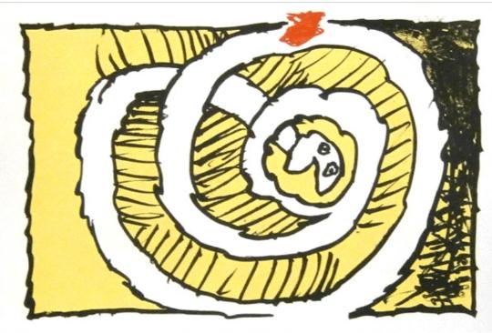 Pierre Alechinsky, Lithograph Festival jaune 1972