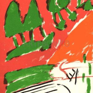 Pierre Nivollet Original Lithograph N10-1 Noise 1988