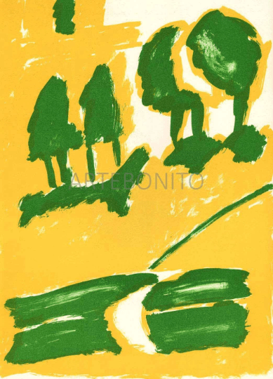 Pierre Nivollet Original Lithograph N10-3 Noise 1988