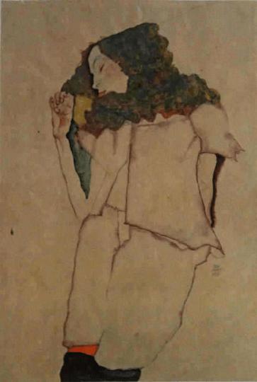 Schiele Egon 18 Lithograph Sleeping girl