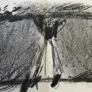 Antoni Tapies Lithograph, DM08175d, Derriere le miroir 1968