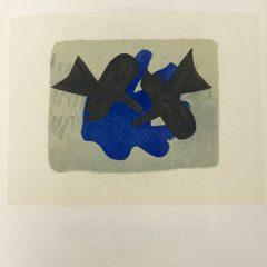 """Braque Lithograph """"Affiche bijoux de braque"""" 1963 Mourlot"""