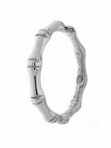 bracelet bangle bamboo silver