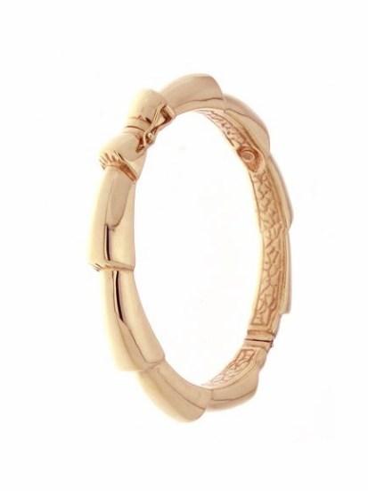 bracelet bangle petals rose gold