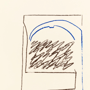 Pierre Buraglio, Lithograph N10-5, Degas 1988