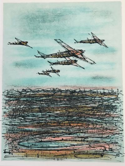 Jean Carzou 17, Original Lithograph 1962 Mourlot, Mid-century modern, Art Wall Décor, Contemporary art, Derriere le Miroir
