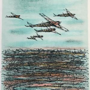 Jean Carzou Original Lithograph17, Mourlot 1962