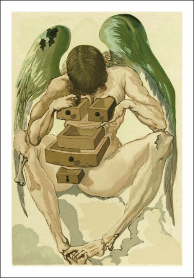 Salvador Dali, Purgatory 1, Woodcut Divine Comedy