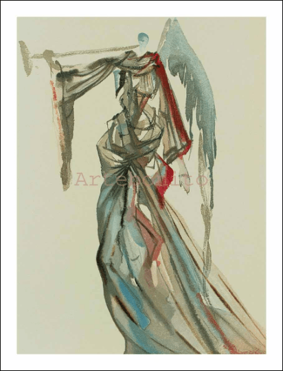Salvador Dali, Paradise 10, woodcut, Divine Comedy