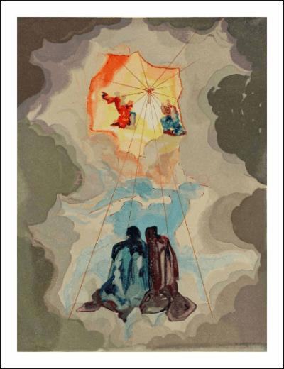 Salvador Dali, Paradise 15, Woodcut, Divine Comedy